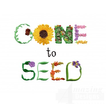 Gone To Seed Embroidery Design