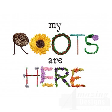 Roots Are Here Embroidery Design