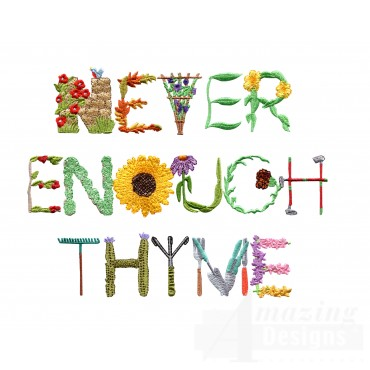 Never Enough Thyme Embroidery Design