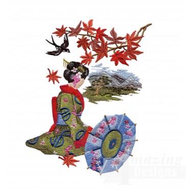 Swngg101 A Geishas Garden Embroidery Design
