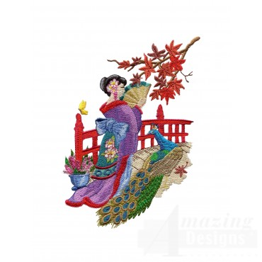 Swngg104 A Geishas Garden Embroidery Design