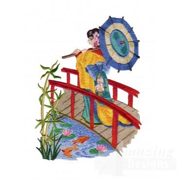 Swngg106 A Geishas Garden Embroidery Design