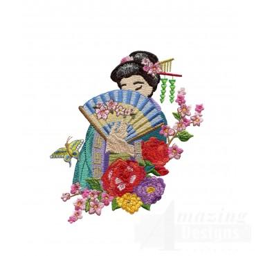 Swngg107 A Geishas Garden Embroidery Design
