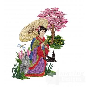 Swngg111 A Geishas Garden Embroidery Design