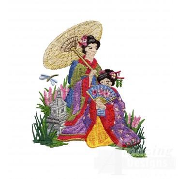 Swngg112 A Geishas Garden Embroidery Design