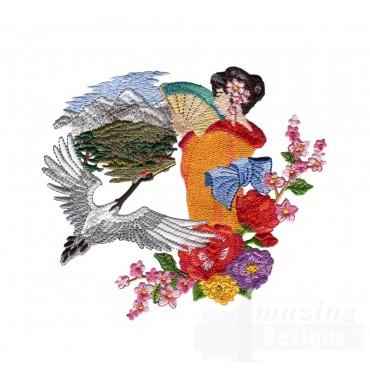 Swngg114 A Geishas Garden Embroidery Design