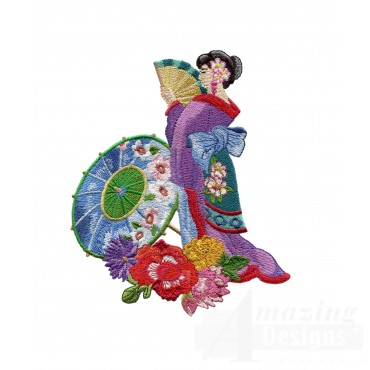 Swngg115 A Geishas Garden Embroidery Design