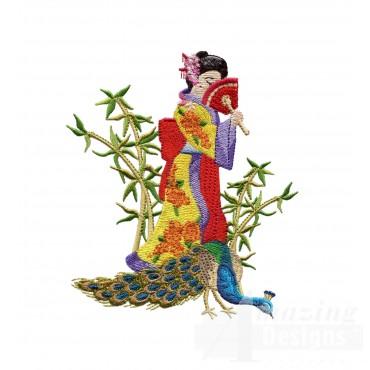 Swngg116 A Geishas Garden Embroidery Design