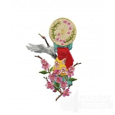 Swngg117 A Geishas Garden Embroidery Design