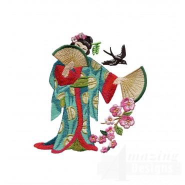 Swngg119 A Geishas Garden Embroidery Design