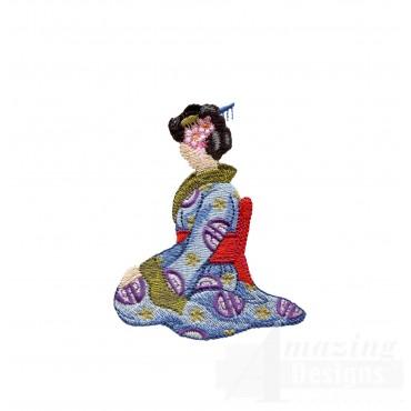 Swngg133 A Geishas Garden Embroidery Design