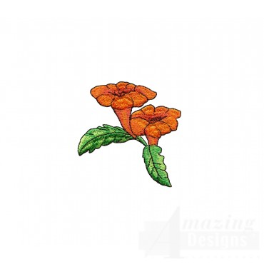 Orange Flowers Embroidery Design
