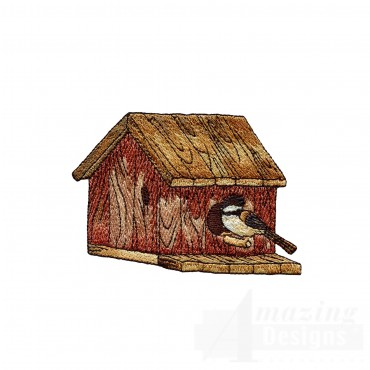 Bird And Birdhouse Embroidery Design