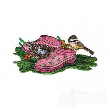 Gardening Shoes Embroidery Design