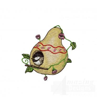 Nesting Chickadee Embroidery Design