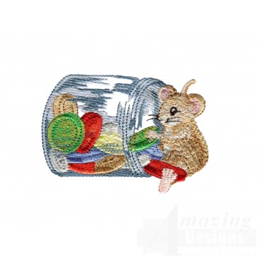 Mouse With Button Jar