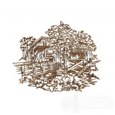 Covered Bridge Swnscb104 Embroidery Design