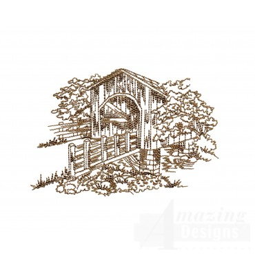 Covered Bridge Swnscb105 Embroidery Design