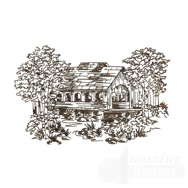 Covered Bridge Swnscb107 Embroidery Design