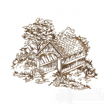 Covered Bridge Swnscb110 Embroidery Design