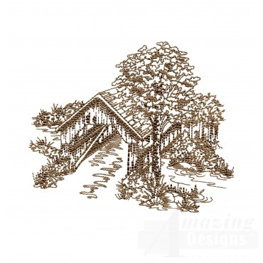 Covered Bridge Swnscb119 Embroidery Design