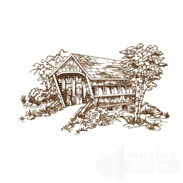 Covered Bridge Swnscb120 Embroidery Design