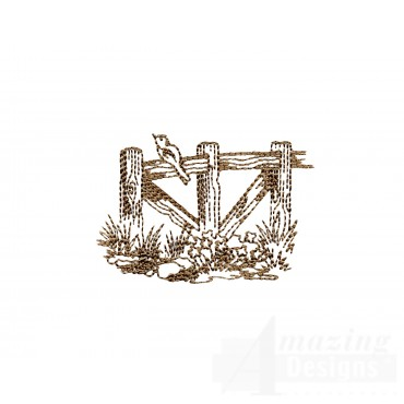 Wood Fence Swnscb130 Embroidery Design