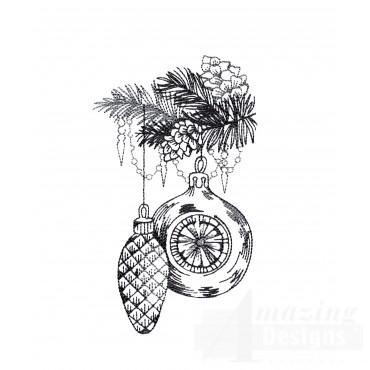 Ornaments Vignette Embroidery Design
