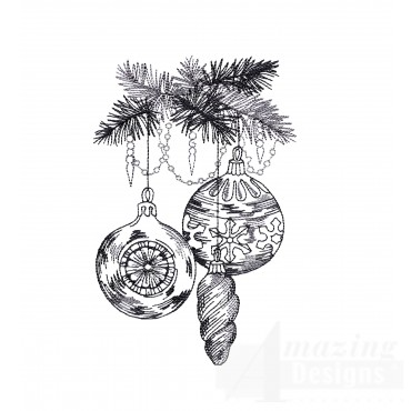 Ornaments Vignette Embroidery Design