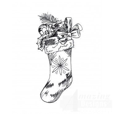 Stocking Vignette Embroidery Design