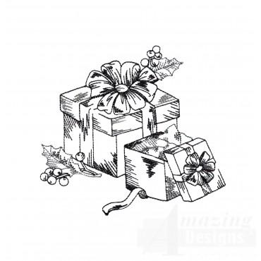 Presents Vignette Embroidery Design