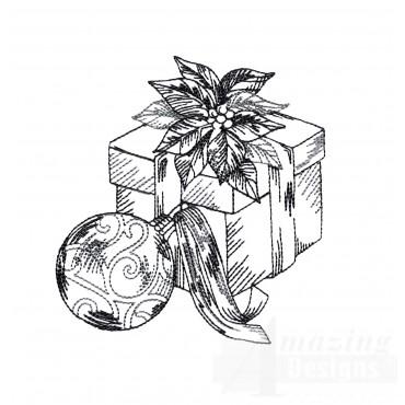 Present Vignette Embroidery Design