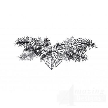 Pine Vignette Embroidery Design