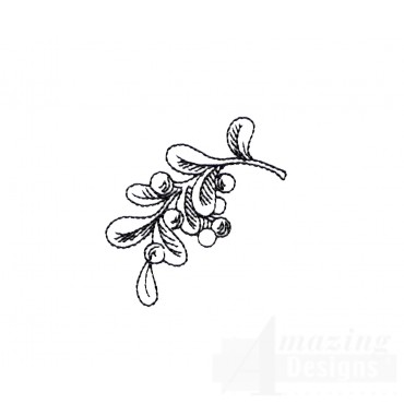 Mistletoe Vignette Embroidery Design