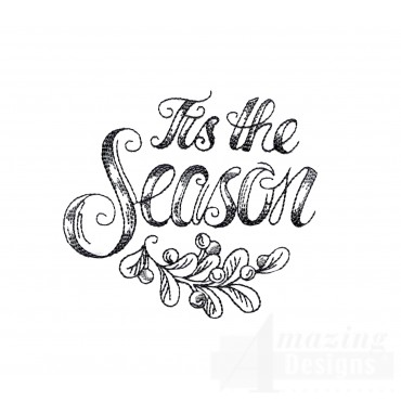 Tis The Season Vignette Embroidery Design