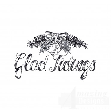 Glad Tidings Vignette Embroidery Design