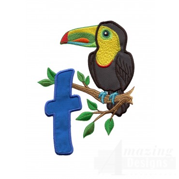 Applique T Toucan In Tree Embroidery Design