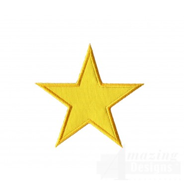 Applique Star Embroidery Design
