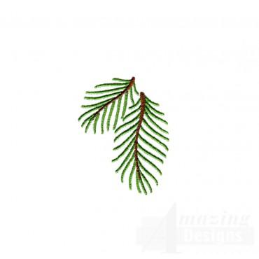 Pine Bough Embroidery Design