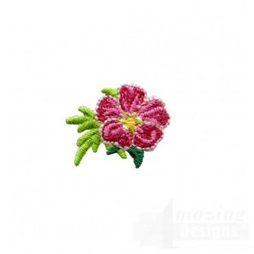 Flowery Crewel Flower Embroidery Design
