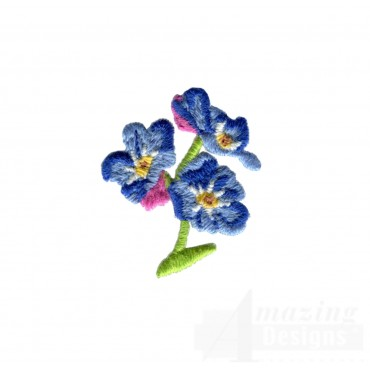 Flowery Crewel Flowers Embroidery Design