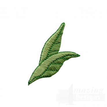 Flowery Crewel Leaf Embroidery Design