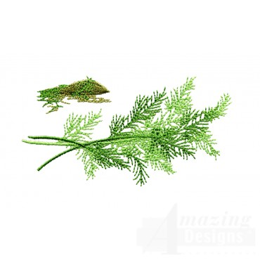 Dill Herb Embroidery Design