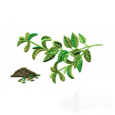 Oregano Herb Embroidery Design