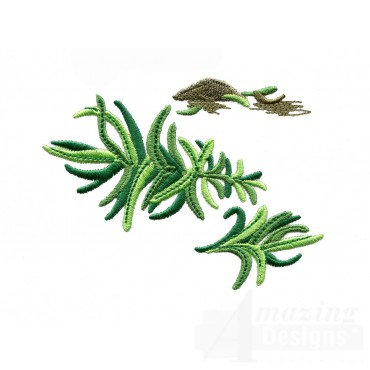Tarragon Herb Embroidery Design