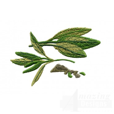 Sage Herb Embroidery Design