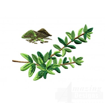 Thyme Herb Embroidery Design