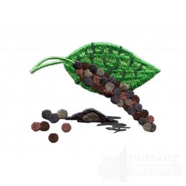 Black Pepper Spice Embroidery Design