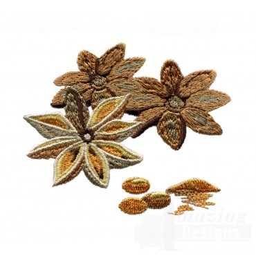 Star Anise Spice Embroidery Design
