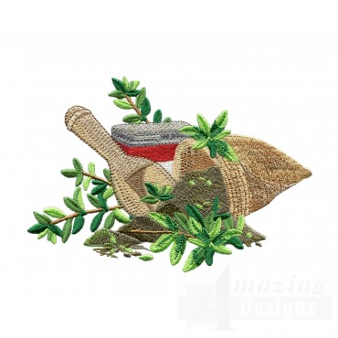 Oregano Herb Collection Embroidery Design